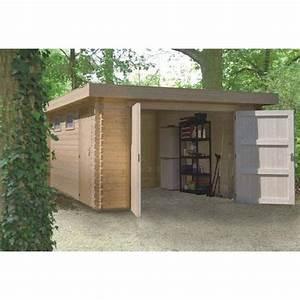 Garage En Bois Toit Plat : garage 44 mm toit plat 380 x 536 cm achat vente garage ~ Dailycaller-alerts.com Idées de Décoration