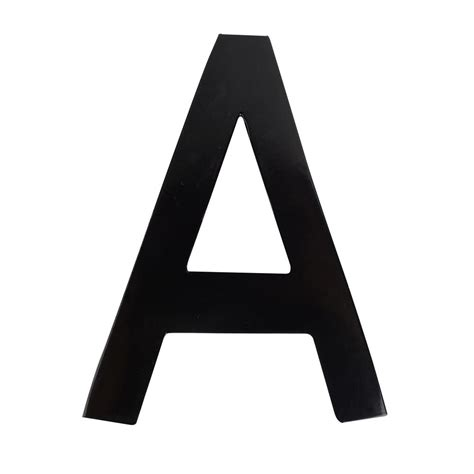 Architectural Mailboxes 4 in. Black Floating House Letter ...