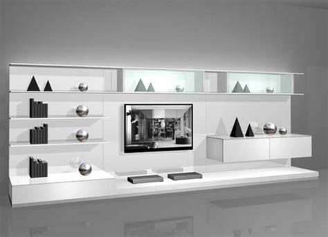 White Wall Mounted Modern Tv Cabinets For Small Living