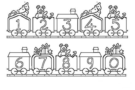 Number Train Printable Coloring Pages Coloring Page For