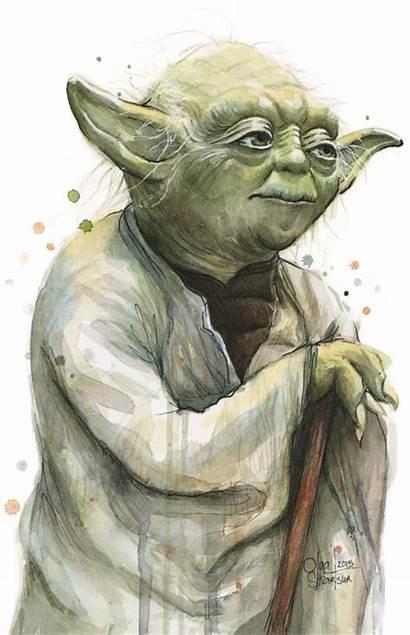 Yoda Wars Watercolor Paintings Shvartsur Olga Painting
