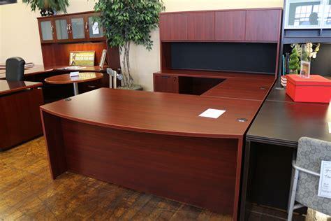 u shaped executive desk with hutch warren series american cherry new u shaped laminate