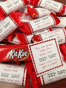 Super cute and easy Thank You's! Mini Kit Kat bars with a ...