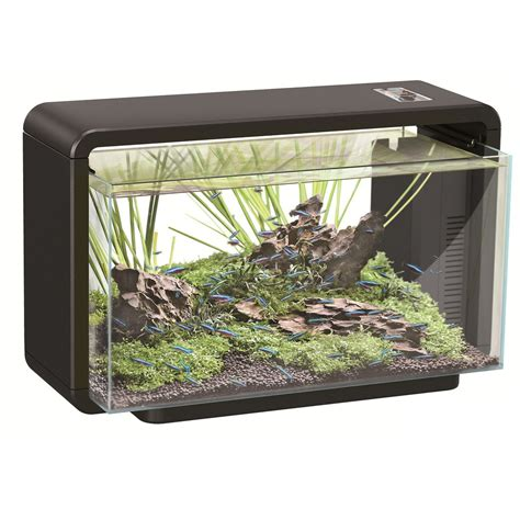 aquarium de 15 litres aquarium poisson 25l tout 233 quip 233 home noir aquariums animal co