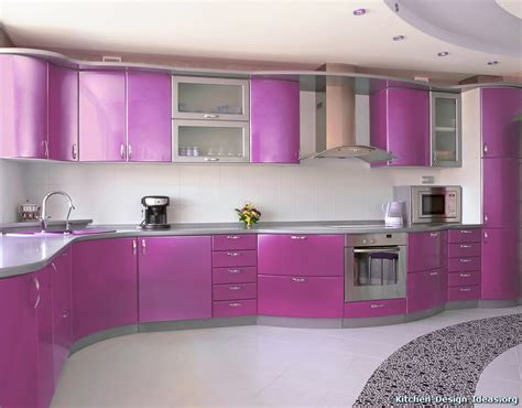 kitchen cabinets pictures of modern purple kitchens design ideas gallery Purple