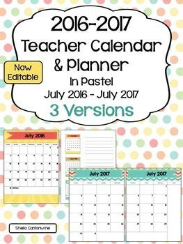 editable calendar updates pastel colors