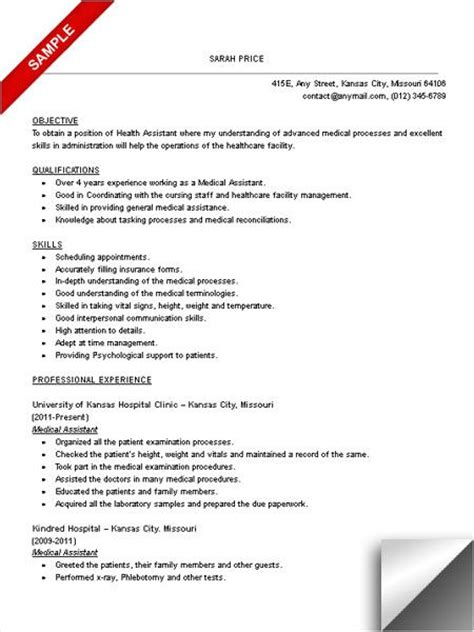 S Aide Objective For Resume by Assistant Resume Sle Objective Skills