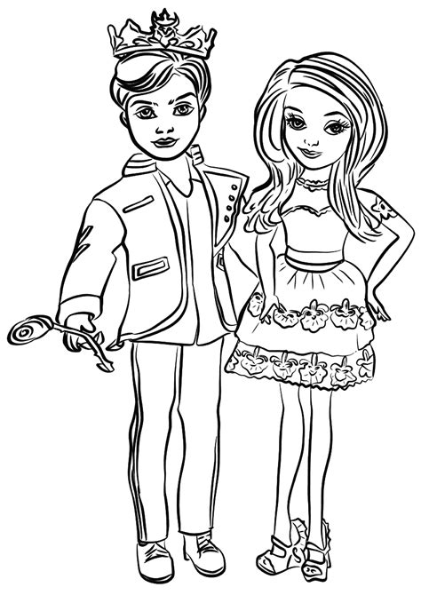 descendants coloring pages coloring pages