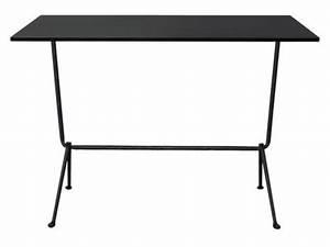 Table Haute 110 Cm : table haute officina bistrot outdoor h 110 cm 120 x 60 cm plateau acier acier noir pieds ~ Teatrodelosmanantiales.com Idées de Décoration