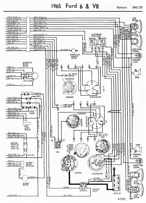 Network Wiring Diagram 1963 Fairlane 1965 v8 galaxie and 6 wiring diagrams part 2 circuit