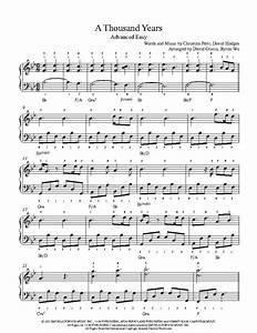 A Thousand Years by Christina Perri Piano Sheet Music ...