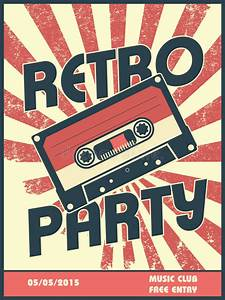 Was Ist Retro Style : retro party music poster design with vintage style stock vector image 47151046 ~ Markanthonyermac.com Haus und Dekorationen