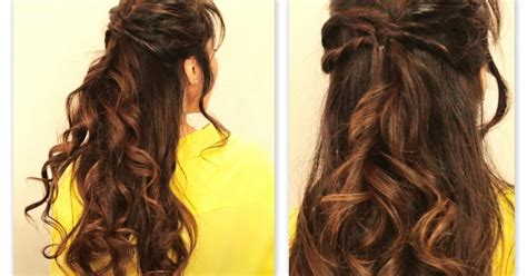medium hair styles images twisted flip half up half fall hairstyles for 8451