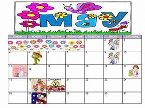 FREE PRINTABLE CALENDAR – May 2014 – May Flowers Theme ...