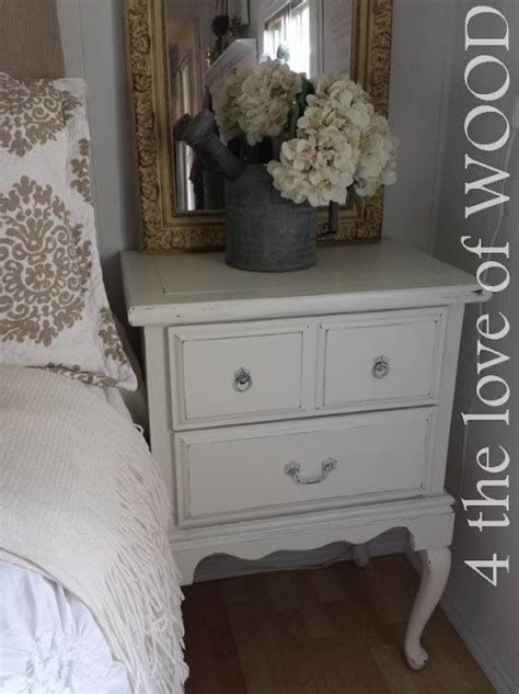 love  wood shabby chic tall bedside tables