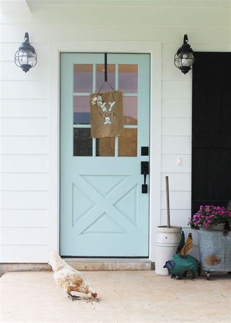 turquoise  blue front doors  paint colors