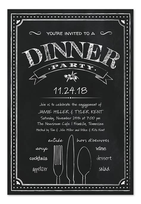 chalkboard dinner party fritz event planning design