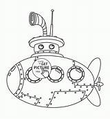 Coloring Submarine Pages Transportation Cute Printables Wuppsy Printable Children Water Tags Steampunk sketch template