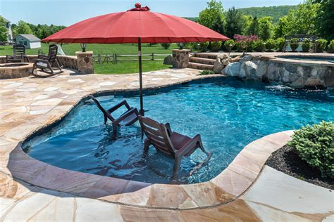 Bloomsbury, Nj  Custom Inground Swimming Pool Design