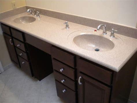Contemporary Design Dark Cherry Double Bowl Bathroom