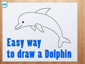 how to draw a dolphin jumping out of the water step by ...
