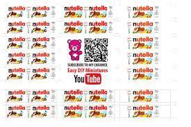related image barbie miniatures nutella label barbie