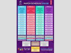 RWC 2019 Match Schedule