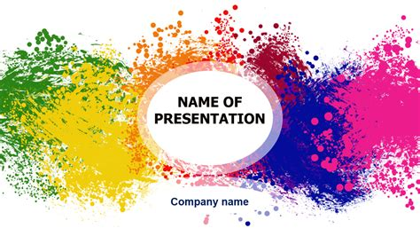 Free Themed Powerpoint Templates by Free Happy Colors Powerpoint Template For