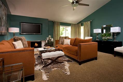 teal and orange living room decor wonderful wintery color combinations ideas inspiration