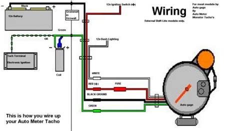 Tach Wire Diagram by Wiring Up A 5 Tacho In Your Car Car Electrical