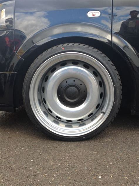 19 quot banded steels made from bmw x5 spare to fit vw t5 yes yes yes volks jdm wheels