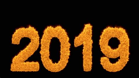Burning 2020 Year With Numbers Made Of Flames Burning 2020