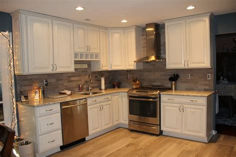 full kitchen view lady grey brushed stone tile