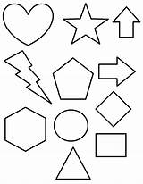 Shapes Coloring Pages 3d Printable Shape Print Getcolorings sketch template