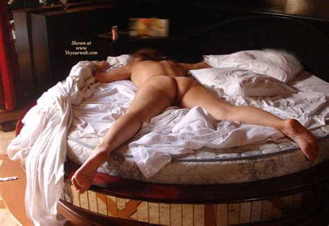 Nude Spread Eagle On Round Bed September Voyeur