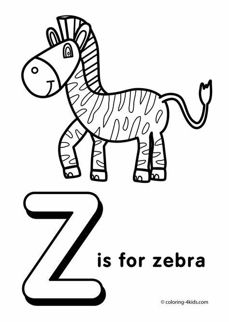 Printable Letter Z Coloring Pages