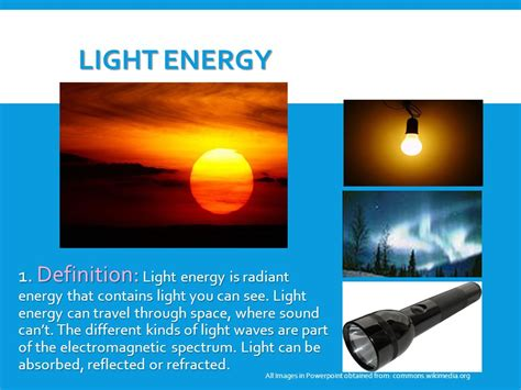 light energy definition forms of energy explain ppt