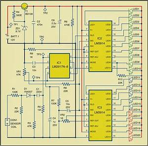Rpm Meter For Automobiles Circuit Diagram
