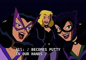 Black Canary Huntress And Catwoman