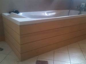 Habillage Baignoire Bois : cr ation d 39 un habillage baignoire en bois dans les monts d 39 or ~ Premium-room.com Idées de Décoration