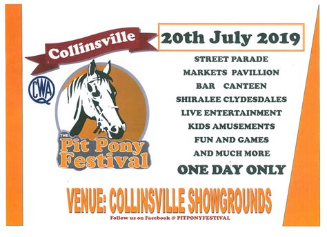 pit pony festival collinsville connectcollinsville connect