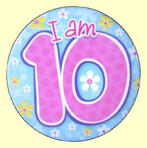 10th birthday flowers badge party wizard