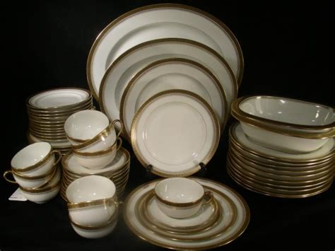 Limoges China Dinnerware Gold Greek Key 62 Pieces