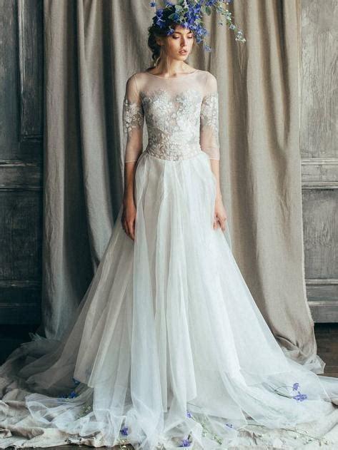 ivory country wedding dresses long sleeve boho