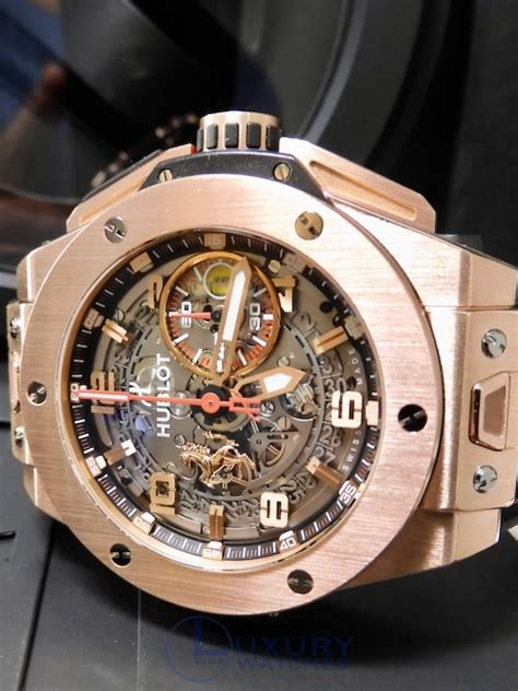 It is actually a bit similar (because of the blue) to the hublot big bang ferrari beverly hills boutique limited edition that ablogtowatch recently reviewed here. Hublot Big Bang Unico Ferrari Rose Gold 99% LNIB 401.0x.0123 xx/500 Ltd 46k List   eBay