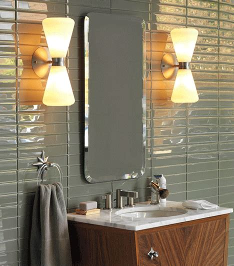 Mid Century Modern Bathroom Sconces by Lights Mid Century Modern Powder Room Bathroom