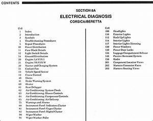 1988 Chevy Corsica  Beretta Electrical Diagnosis Manual
