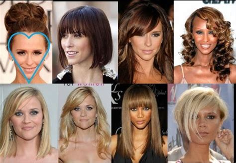 hairstyles   face shape heart