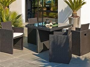 Salon De Jardin Terrasse : salon de jardin table et chaise mobilier de jardin leroy merlin ~ Teatrodelosmanantiales.com Idées de Décoration