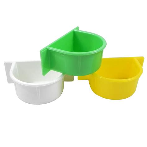 parrot food and water cup plastic bird dishes and bowls